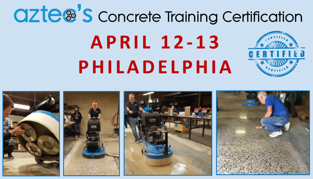 Hands-on concrete and terrazzo training certification to contractors, distributors, product reps, and anyone who wants to learn more about the lucrative possibilities for concrete floors.