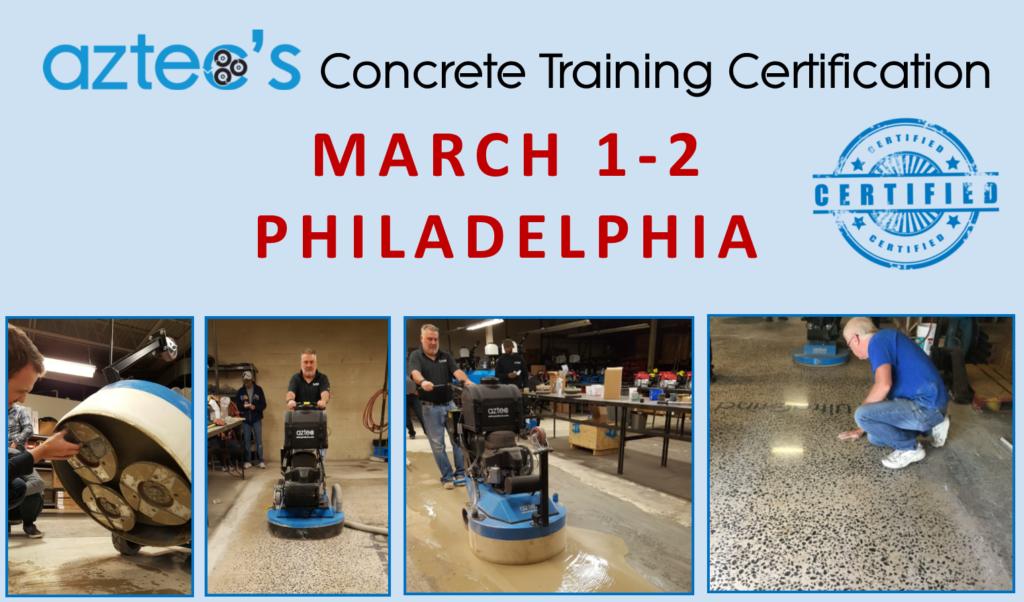 Concrete Training Certification - Philadelphia March 2019