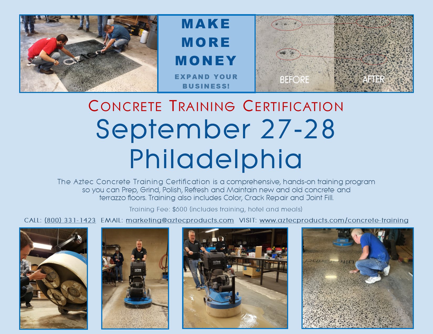 Concrete Training September 2019 Aztec Products