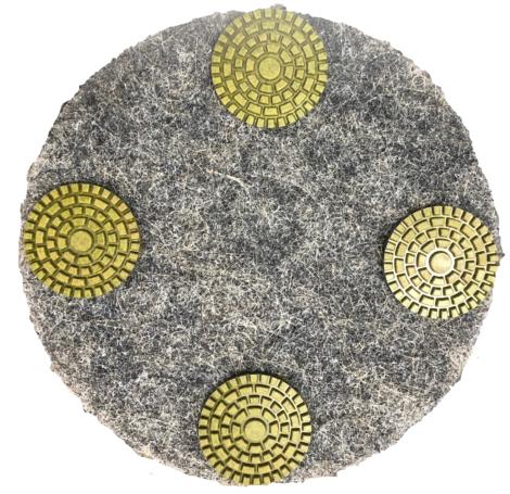 Segmented Diamond Pad for Aztec Refresher