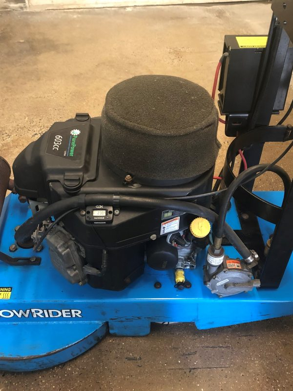 Used Aztec Lowrider propane burnisher 21 LR 000 1209