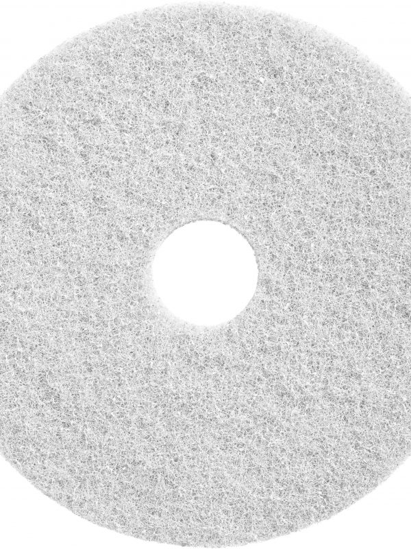 White Twister pad 800 grit for Deep Cleaning Commercial Floors