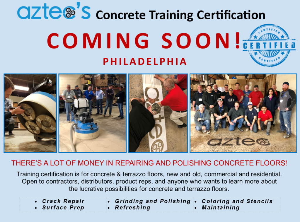 GET CERTIFIED TO POLISH CONCRETE AND MAKE MORE MONEY PER SQFT